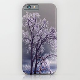 Frosty Scene - Inverted Art Series iPhone Case