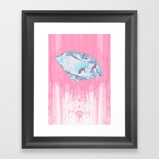 Diamant. Framed Art Print