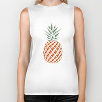 tote Biker Tanks featuring Pineapple  by withnopants