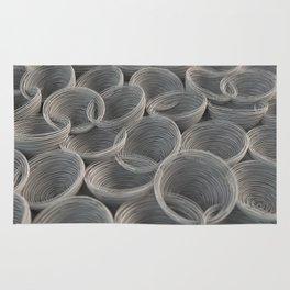 White spiraled coils Rug