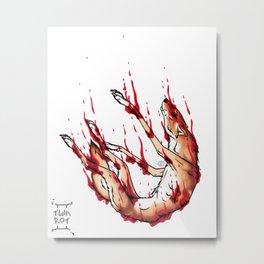 Sinking, Bleeding Metal Print
