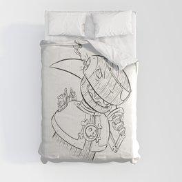 Robot Pirate - ink Comforters
