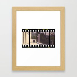 Old Hollywood Hills Framed Art Print
