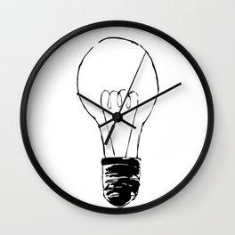 Lightbulb Sketch Wall Clock