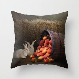 Fruit of the Rabbit Throw Pillow