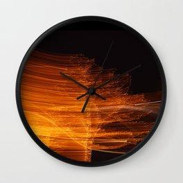 flaming branches o2 Wall Clock
