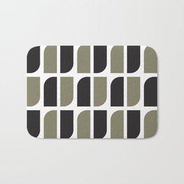 Geometric Pattern #41 (black gray) Bath Mat