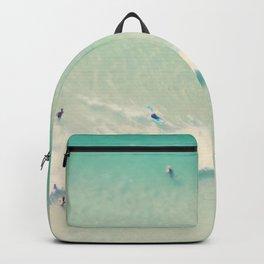 beach summer waves Backpack