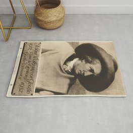 Vintage poster - Johann Wolfgang von Goethe Rug