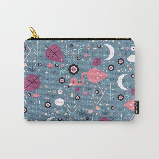 Flamingo & Chick Carry-All Pouch