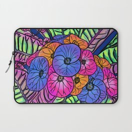 Colourful Flowers and Leaves Laptop Sleeve