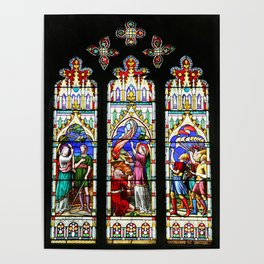 Cathedral Stained Glass 3 Poster