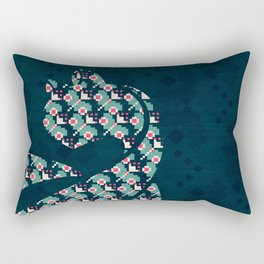 Winter Pattern Cat Rectangular Pillow