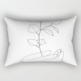 Minimal Hand Holding the Branch II Rectangular Pillow
