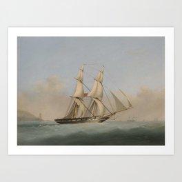 Nicholas Matthew Condy BRITISH 1816 - 1851 H. M. BRIG ACORN; Art Print
