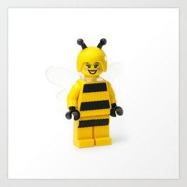 Lady Bumblebee Minifig Art Print
