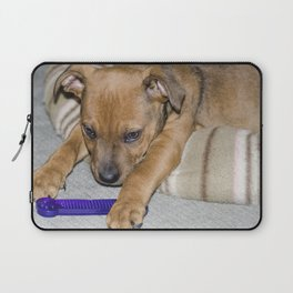 Staffie Portrait close up . Rikko. Laptop Sleeve