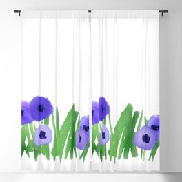Field of Cornflowers Blackout Curtain
