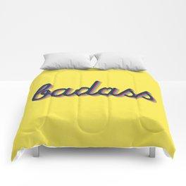 Badass - yellow version Comforters