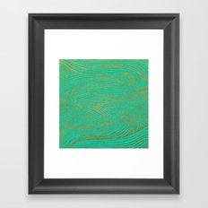 Wind Gold Turquoise Framed Art Print