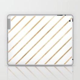 Geometrical gold color gradient elegant stripes Laptop & iPad Skin