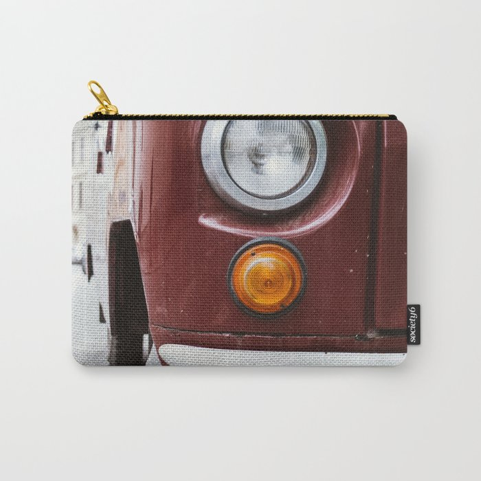 Retro Red Car Carry-All Pouch