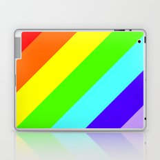 Stripes Diagonal Rainbow Laptop & iPad Skin