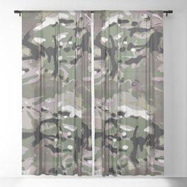 Camo Camo, and the art of disappearing. Sheer Curtain
