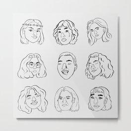 emotions: grey Metal Print