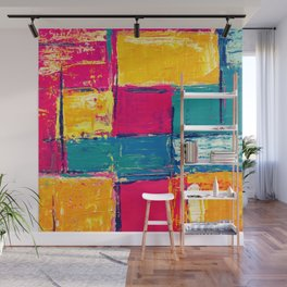 Colorful Geometric Vivid Abstract Background Wall Mural