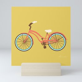 Cruiser Bike: Caramel Orange Mini Art Print