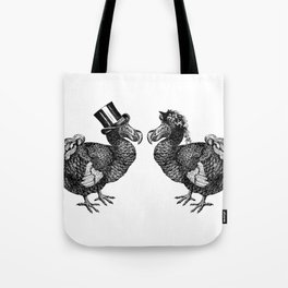 Mr and Mrs Dodo | Black and White Tote Bag