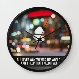 marina + the diamonds - world. Wall Clock