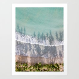 Turquoise water | Tropical travel photography | The Dominican Republic Art Print