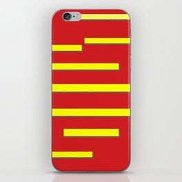 Bright Red and Bright Yellow Graphic Design iPhone Skin