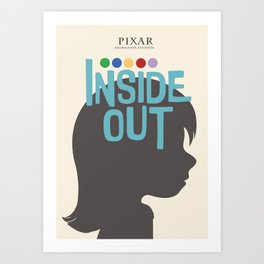 Inside Out - Minimal Movie Poster Art Print