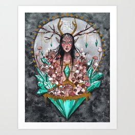 Crystal Fae Witch Art Print