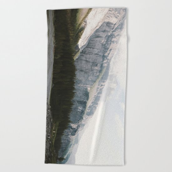 Airy Mountain Lake - Landscape Photography Beach Towel