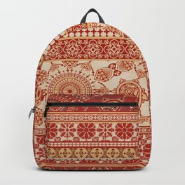 Ornate Moroccan in Red Backpack