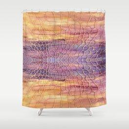 Webbed Sunset Shower Curtain