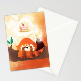 Red Panda & Cake Stationery Cards