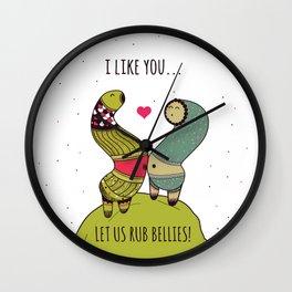 Let us rub bellies! Wall Clock