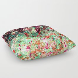 MISTLETOE NEBULA Colorful Festive Christmas Red Green Sparkle Galaxy Ombre Xmas Holidaze Abstract  Floor Pillow