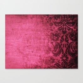 Pink damask Canvas Print