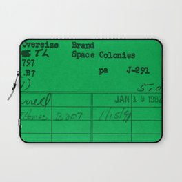 Library Card 797 Green Laptop Sleeve