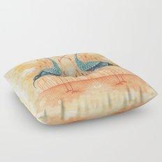 An Exotic Stork Floor Pillow