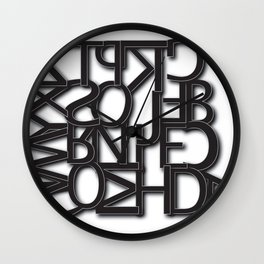 The Dyslexic Alphabet Wall Clock