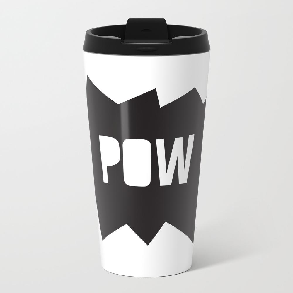 Pow Pow Metal Travel Mug by Littleboombox MTM7923122