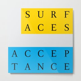 apr too —acceptance surfaces Metal Print