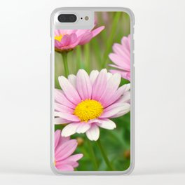 Daisy pink 090 Clear iPhone Case